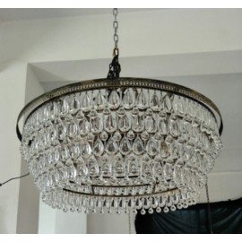 Clarissa Crystal Drop Round Chandelier Pottery Barn 2