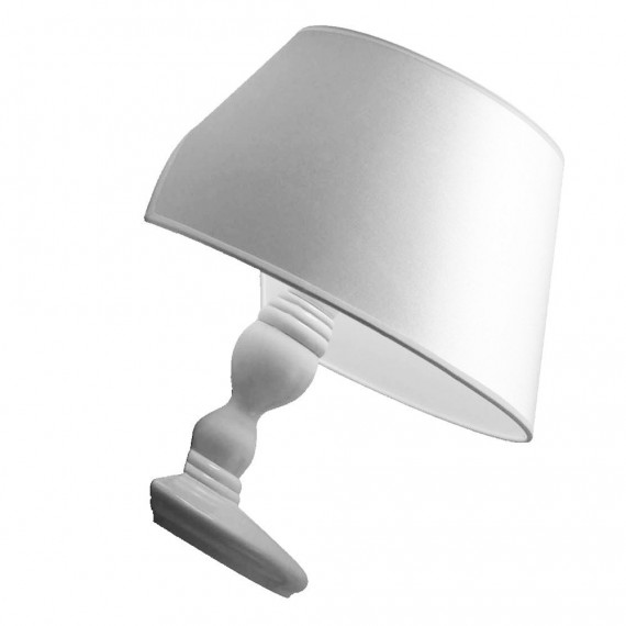 Titanic wall lamp white color front view
