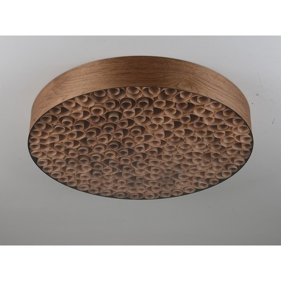 Spiro pendant lamp LZF walnut color front view