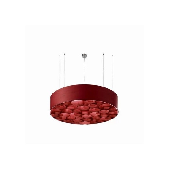 Spiro LED pendant lamp LZF red color front view