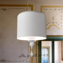 Eva pendant lamp Masiero white color front view