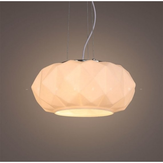 Deluxe pendant lamp Murano Due white color front view