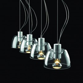 Serena pendant lamp Modiss transparent color side view