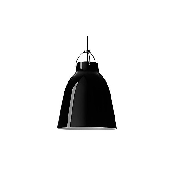 Caravaggio pendant lamp Light years black color front view