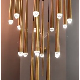 RH AQUITAINE PENDANT LAMP brass color 2