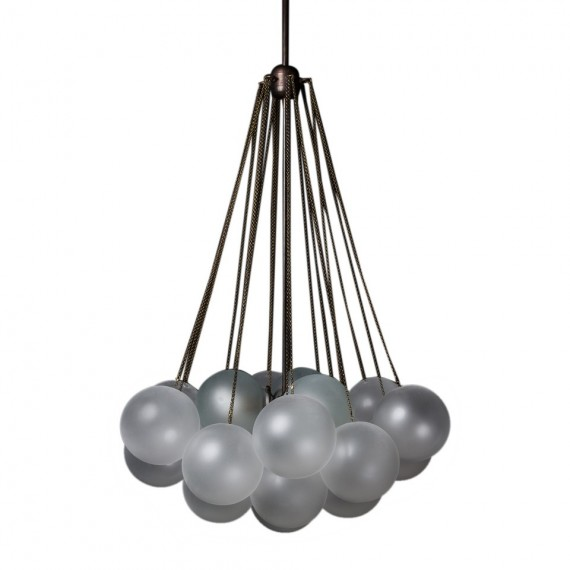 Cloud 19 chandelier Apparatus black color front view