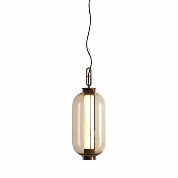BAI MA MA LED Pendant lamp Parachilna transparent color front view