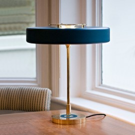 Revolve Table Lamp Bert Frank blue color front view