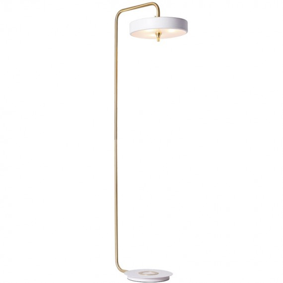 Revolve Floor Lamp Bert Frank white color front view
