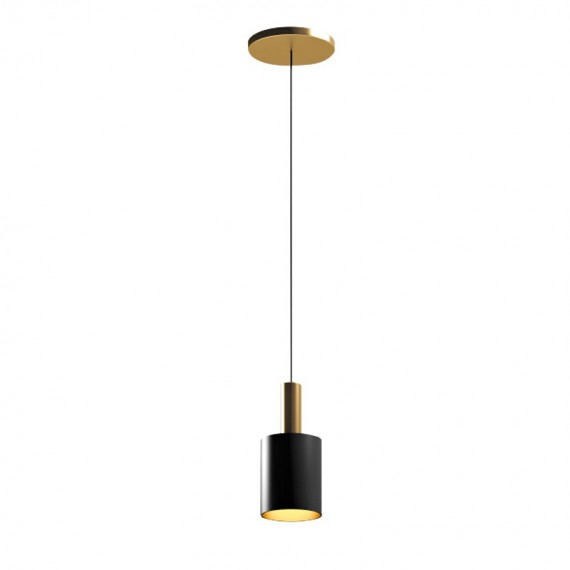 Musa PENDANT LAMP Capital Collection black color 1 light front view