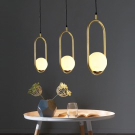 C BALL PENDANT LAMP B.lux gold color side view