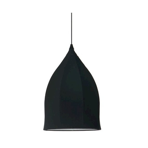 Dome pendant lamp Moooi black color Diam 40cm front view
