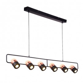 LING PENDANT LAMP Seed Design black + copper color front view