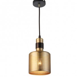 Riddle PENDANT LAMP Bert Frank brass + black color front view