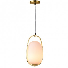 Lanna  PENDANT LAMP Kundalini brass color front view