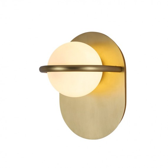 C BALL WALL LAMP B.lux brass color front view