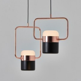LING LED PENDANT LAMP 1 light Seed Design black + copper color back view