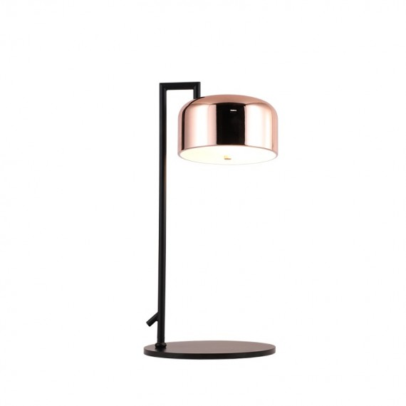 Lalu Plus Table LAMP Seed Design black+copper color front view