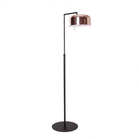 Lalu Plus floor LAMP Seed Design black+copper color front view