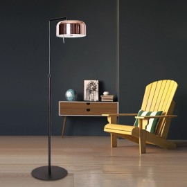 Lalu Plus floor LAMP Seed Design black+copper color side view