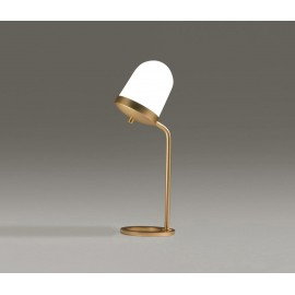 Lula Table Lamp Small High Penta brass color back view