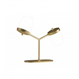 Lula Table Lamp double Penta brass color front view
