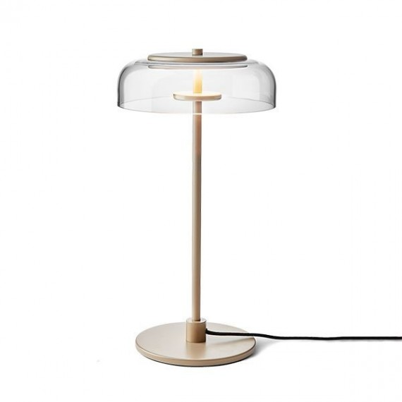 Blossi LED Table Lamp Nuura transparent color front view