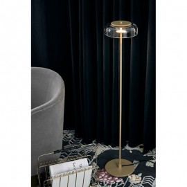 Blossi LED Floor Lamp Nuura transparent color back view