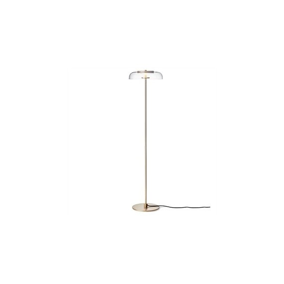 Blossi LED Floor Lamp Nuura transparent color front view