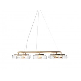Blossi LED 8 Pendant Lamp Nuura transparent color side view