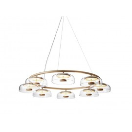 Blossi LED 8 Pendant Lamp Nuura Nuura transparent color front view