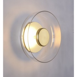 Blossi LED Wall Lamp Nuura transparent color in dining room