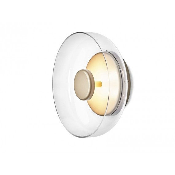 Blossi LED Wall Lamp Nuura transparent color front view