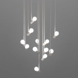 Bird Cluster Chandelier white color 12 bulbs with detail