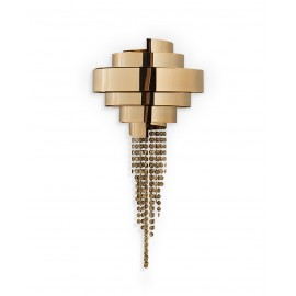 Guggenheim Wall Lamp Luxxu gold color