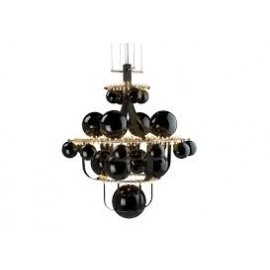 Royal BB Luxury Chandelier Quasar gold color S front view