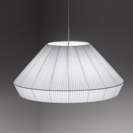 Mei 38 pendant lamp Foscarini white color front view