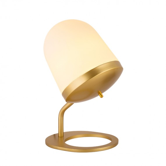 Lula Table Lamp Large Penta brass color side view