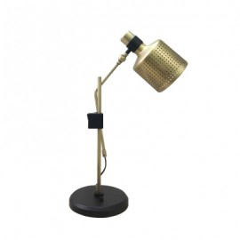 Riddle table lamp single Bert Frank black color front view