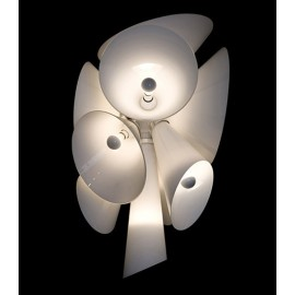 Nebula pendant lamp Flos white color front view