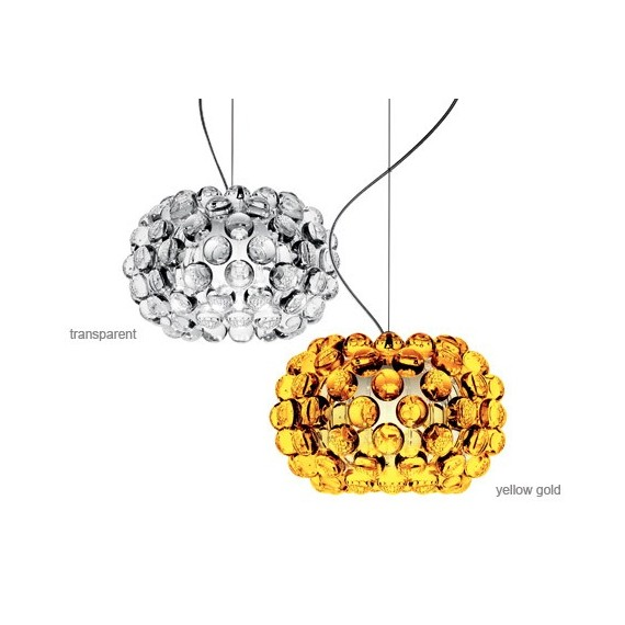 Caboche style pendant lamp Foscarini transparent color / amber color