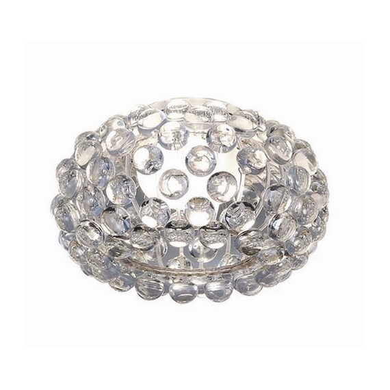 ceiling lamp caboche style Foscarini transparent color diam 35cm