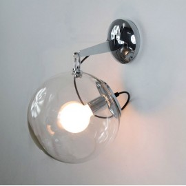 Miconos wall lamp Artemide transparent color in dining room