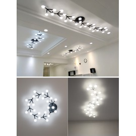 Net LED ceiling lamp black color