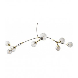 Ivy Horizontal 8 Pendant Lamp CTO lighting transparent color front view