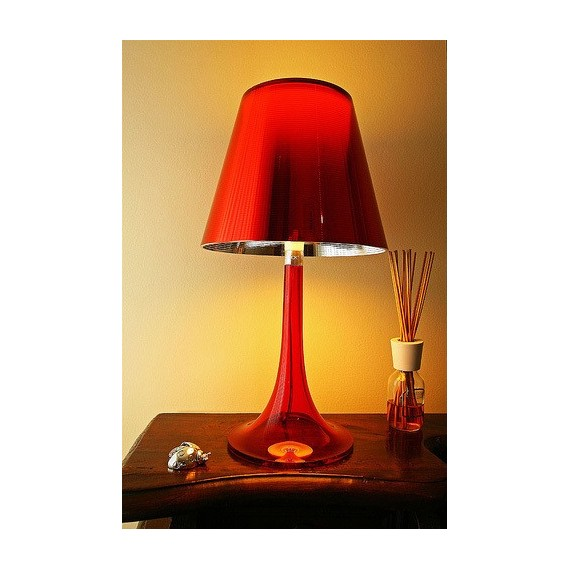 Miss K table lamp Flos red color front view