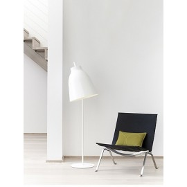 Caravaggio floor lamp Light years white color side view