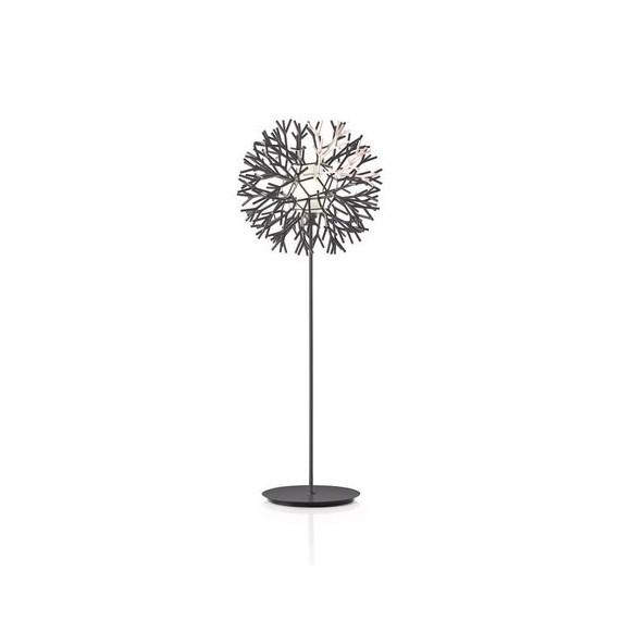 Coral floor lamp Pallucco black and white color front view