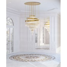 Babel Chandelier Luxxu brass/nickel color back view