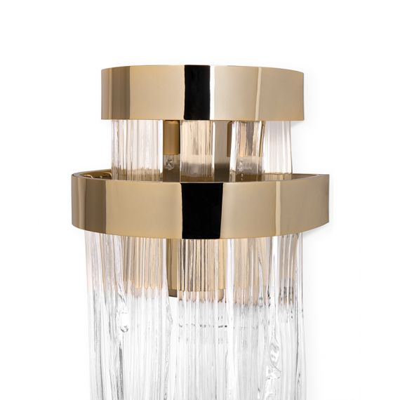 Babel Wall Lamp Luxxu brass/nickel color with detail